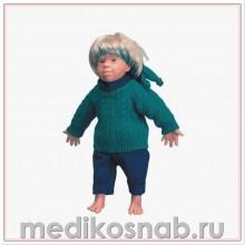 Кукла с синдромом Дауна «Kim», европеоидной расы, мужского пола