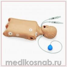 Тренажер туловища ребенка для СЛР/отработки навыков восстановления проходимости дыхательных путей с возможностью проведения дефибрилляции