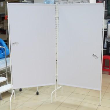 Ширма (перегородка) медицинская ШМ МСК-2302-01 двухсекционная без колес