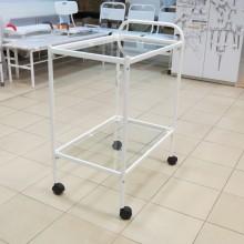 Столик манипуляционный процедурный (полки стекло) СПп 01 МСК 501 01М