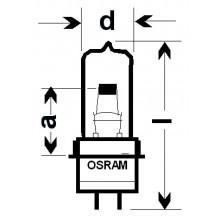 Лампа галогенная (галогеновая) Osram HLX 64261 6V 20W PG22
